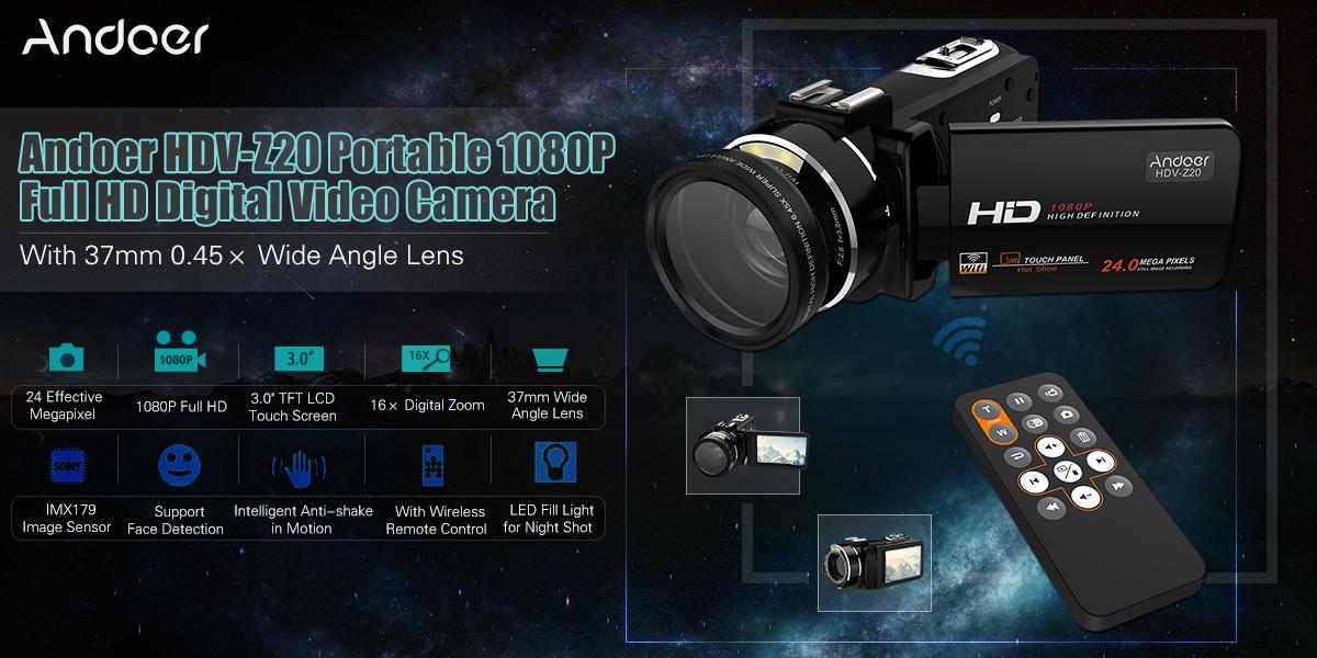 Andoer HDV-Z20 Portable 1080P Full HD Digital Video Camera