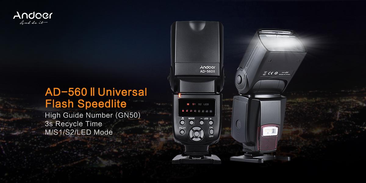 Andoer AD-560Ⅱ Universal Flash Speedlite On-camera Flash