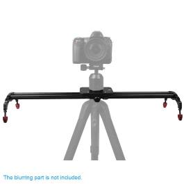 Andoer 60cm Professional Portable Track Dolly Motion Slider Sliding Rail Stabilizer Bearing System for Canon Nikon Sony DSLR Camera Camcorder Video DV