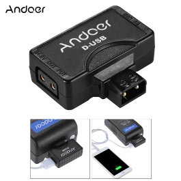 Andoer D-Tap (P-Tap) to USB Adapter Connector 5V for V-mount Camera Battery for Charger for BMCC Smartphone Monitor