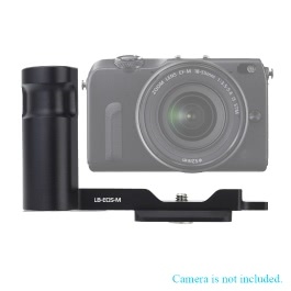 Andoer LB EOS-M Metal Quick Release L-Plate Bracket Hand Grip for Canon EOS M Camera Fits Arca-Swiss Standard