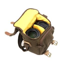 Andoer Caden Digital Camera Bag Waterproof Canvas Vintage Shoulder Bag for Nikon Sony Canon DSLR