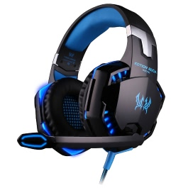 Andoer® EACH G2000 Over-ear Game Gaming Headphone Headset Earphone Headband with Mic Stereo Bass LED Light for PC Game