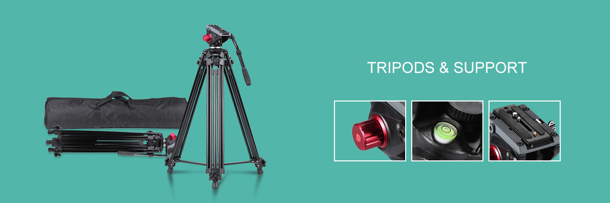 Tripods & Support Banner